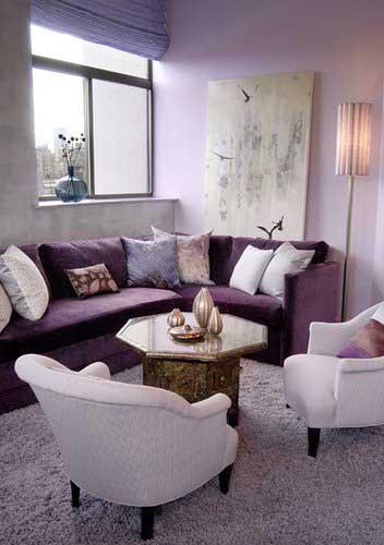 decoracao de sala lilas : decoracao de sala lilas:120 DICAS DE DECORAÇÃO PARA SALA DE ESTAR