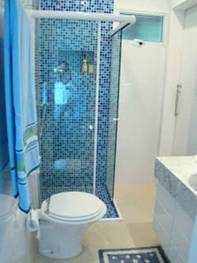 51 BANHEIROS DECORADOS COM PASTILHAS # Decoracao Com Pastilhas De Vidro Em Banheiro