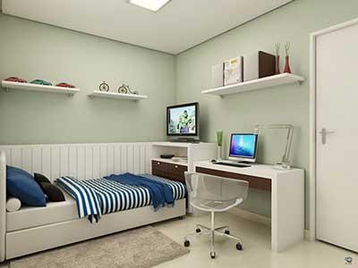 quartos de solteiro decorados