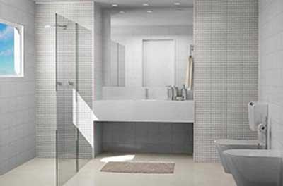 tendências de banheiros com pastilhas