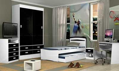 imagens de quartos de solteiro decorados