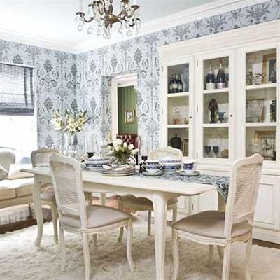Decoração de sala de jantar pequena, grande, simples