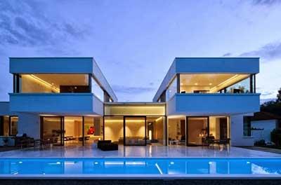 30 casas modernas pequenas grandes ideias decora o - Piscinas grandes baratas ...