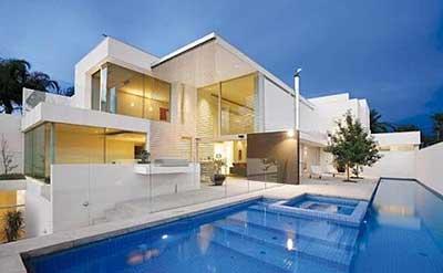 30 casas modernas pequenas grandes ideias decora o for Fotos de casas modernas simples