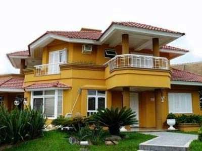 Casas pintadas fotos imagens dicas ideias inspira o Fachadas de casas pintadas