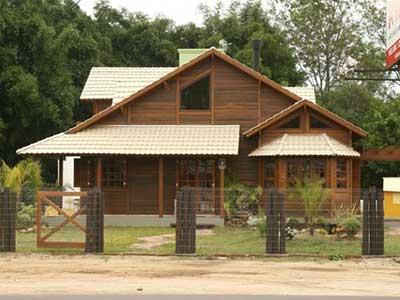 imagens de casas de madeira