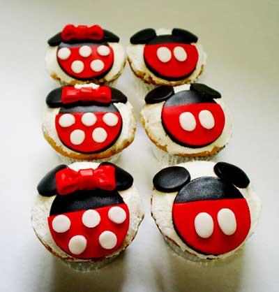 Cupcakes decorados em fotos