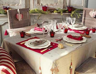 decoração para mesas de natal