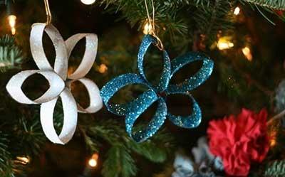 fotos de decoração de natal com artesanato