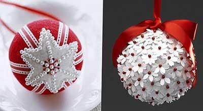 Новогодние игрушки своими руками из бумаги шары фото 376