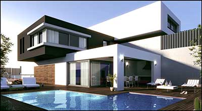 30 casas modernas pequenas grandes ideias decora o for Casa moderna wallpaper