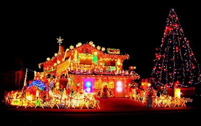 foto de natal decorado