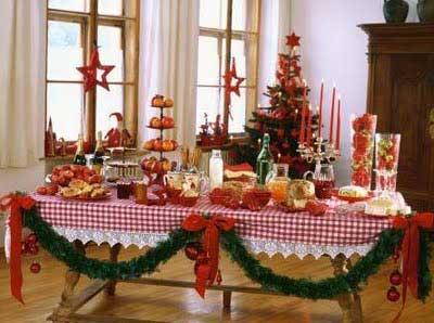 fotos de mesas decoradas de natal