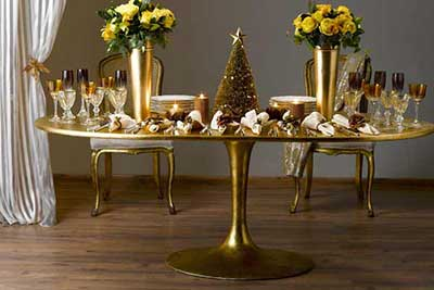 fotos de decoração de mesas para natal