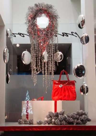 fotos de decoração de loja para natal