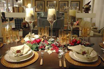 dicas de decoração de mesas para natal