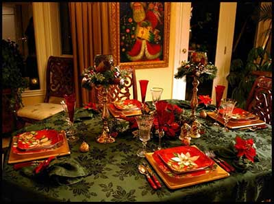 imagens de mesas decoradas de natal