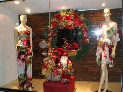 decoração de loja para natal
