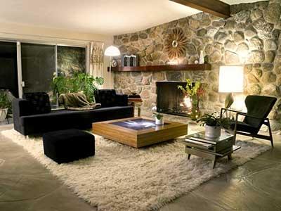 Decora o de salas modernas simples pequenas grandes for Sala rustica moderna