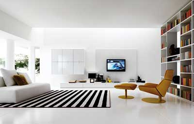 Decora o de salas modernas simples pequenas grandes - What size tv to get for living room ...