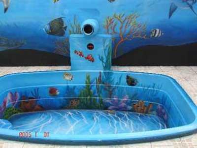 Imagens de piscinas decoradas