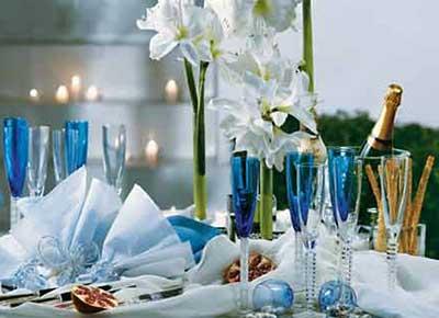 decoração da mesa de réveillon