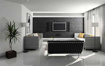 salas decoradas com papel