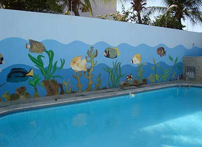 piscinas decoradas
