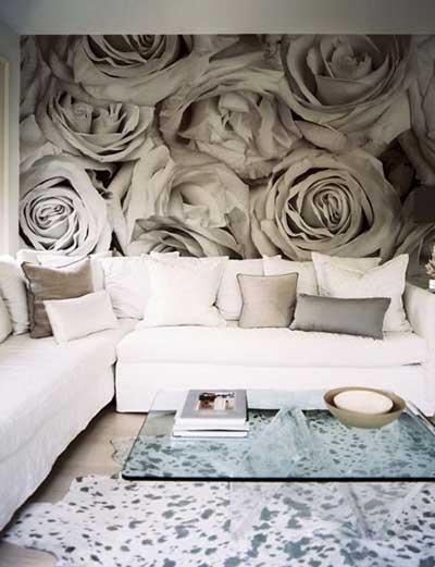 paredes decoradas com papel de parede