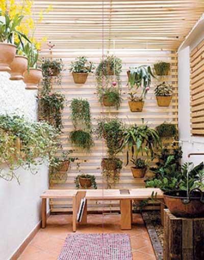 Como Fazer Decoraç u00e3o para Varandas Fotos, Ideias, Dicas -> Decoração De Varanda Com Vasos De Plantas