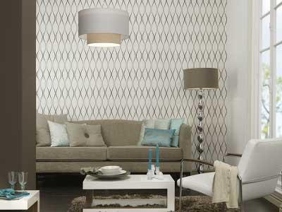 como decorar salas com papel de parede