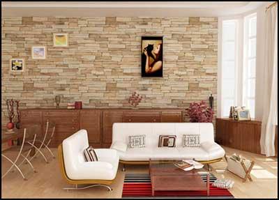 salas decoradas com papel de parede