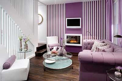 44 papel de parede para salas pequenas grandes modernas. Black Bedroom Furniture Sets. Home Design Ideas