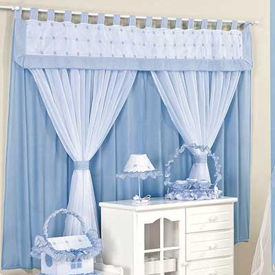 Modelos de cortinas para quarto de beb fotos dicas ideias - Cortinas para bebes nina ...