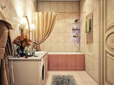 imagens de banheiros vintage decorados
