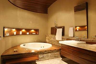 banheiros com espelhos