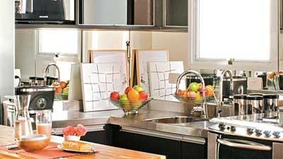 cozinhas com espelhos