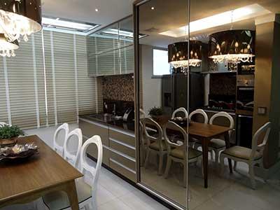 fotos de cozinhas com espelhos