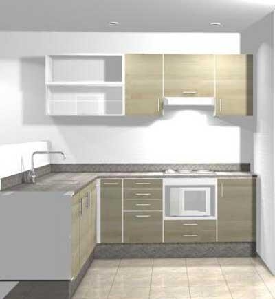 Cozinhas modernas em forma de l