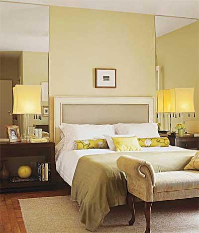 quartos decorados com espelhos