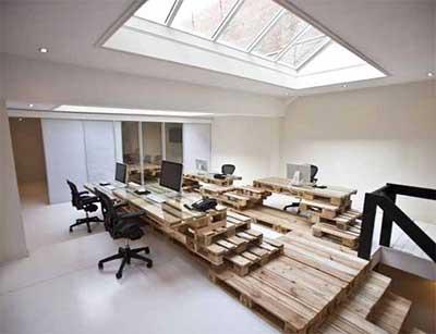 Sugest es de decora o com paletes ideias dicas fotos - Creative attarctive home office decorating ideas ...