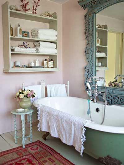 Fa a voc mesmo sua decora o vintage fotos dicas for Decoration salle de bain romantique