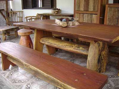 Decora o com mesas r sticas fotos dicas modelos - Mesas rusticas de cocina ...