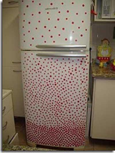fotos de geladeiras com adesivos
