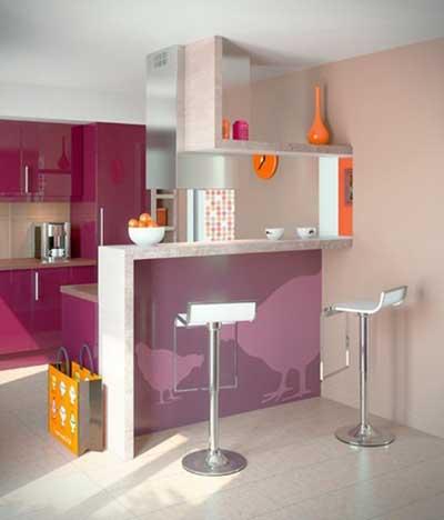 Dicas de decora o para cozinhas pequenas for Desayunadores para cocinas pequenas