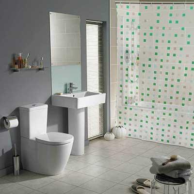30 cortinas para banheiro diferentes fotos modelos dicas for Modelos de cenefas para cortinas