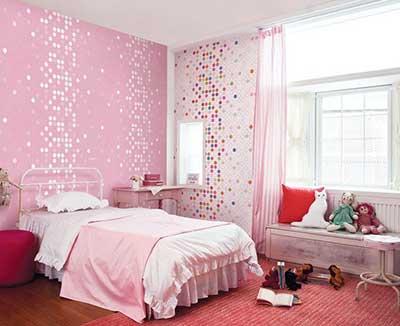 como usar papel de parede em quarto. Black Bedroom Furniture Sets. Home Design Ideas