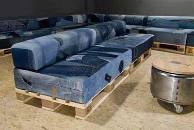 fotos de sofás de paletes