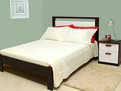 decoração com cama de casal