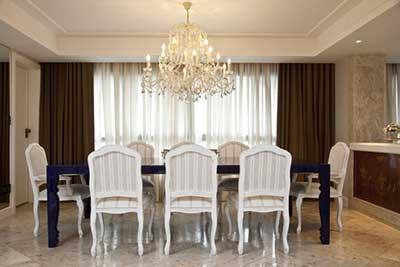 modelos de lustres para sala de jantar